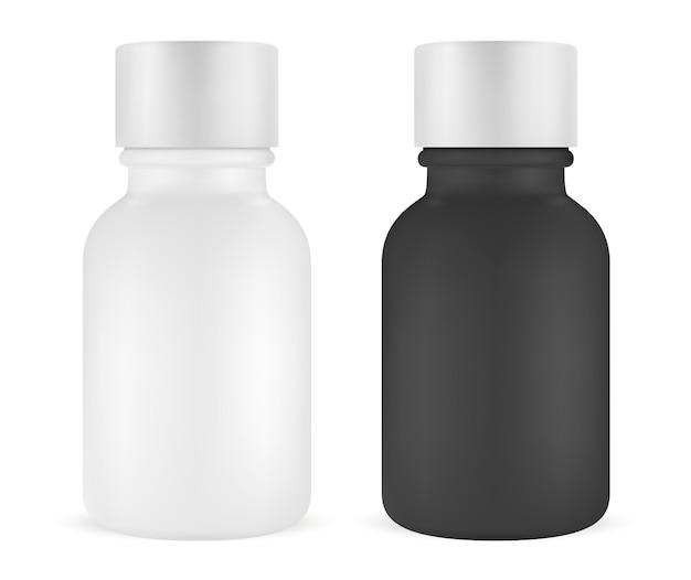 Zestaw butelek esencji. serum do twarzy. fiolka kosmetyczna