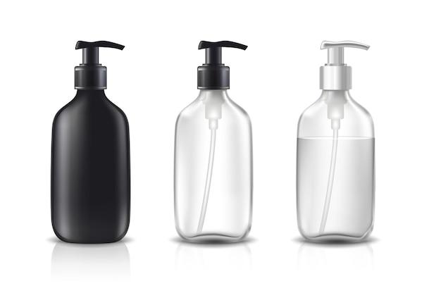 Zestaw butelek kosmetycznych