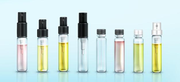 Zestaw butelek na próbki perfum