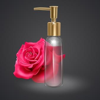 Zestaw butelek perfum na białym tle