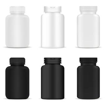 Zestaw butelek pigułki pojemnik na tabletkę leku