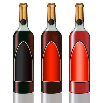 Zestaw butelek winorośli