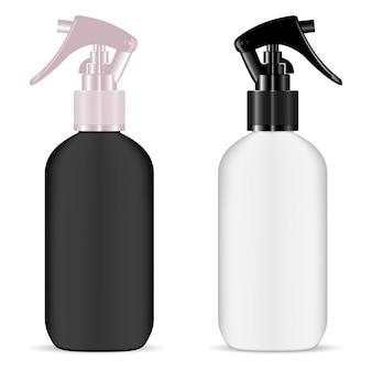 Zestaw butelek z rozpylaczem plastikowym. plastikowy spust pistoletu.