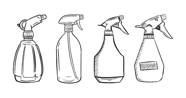 Zestaw butelek z rozpylaczem