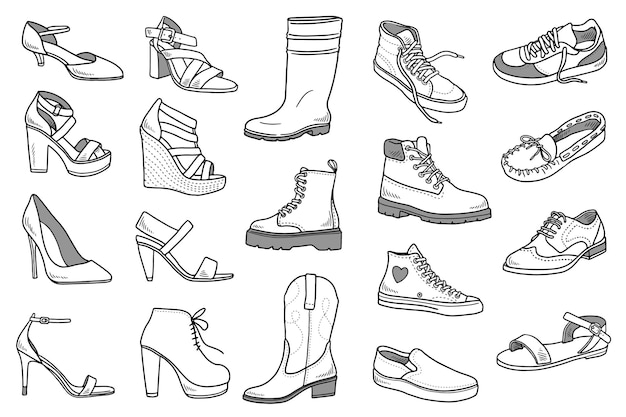 Zestaw butów doodles