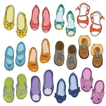 Zestaw butów kobiet