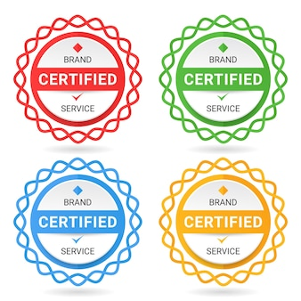 Zestaw certyfikatów odznak.
