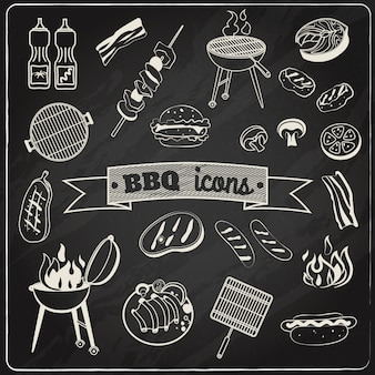 Zestaw chalkboard barbecue