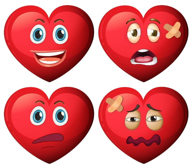 Zestaw charakter serca