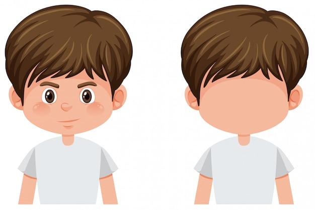 Zestaw charakteru młodego chłopca