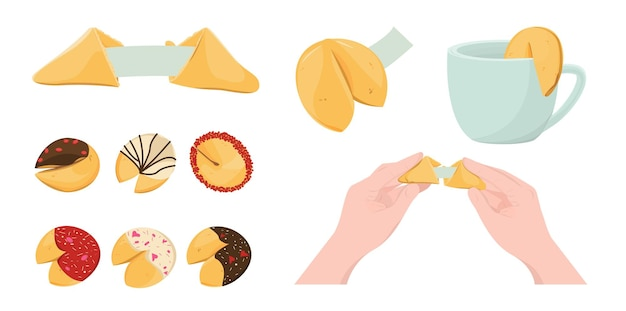Zestaw chińskich ciasteczek z wróżbą