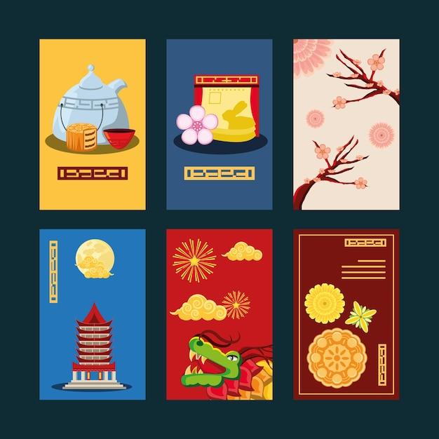 Zestaw chińskiej tradycyjnej karty