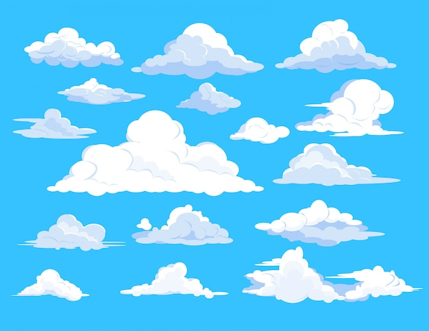 Zestaw chmur na niebie
