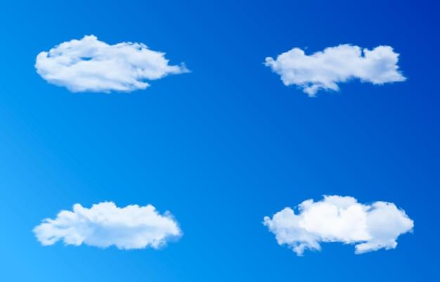 Zestaw chmur wektorowych lub dymu na tle nieba chmura dym mgła niebo png