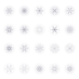 Zestaw christmas snowflakes