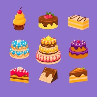 Zestaw ciast i deserów
