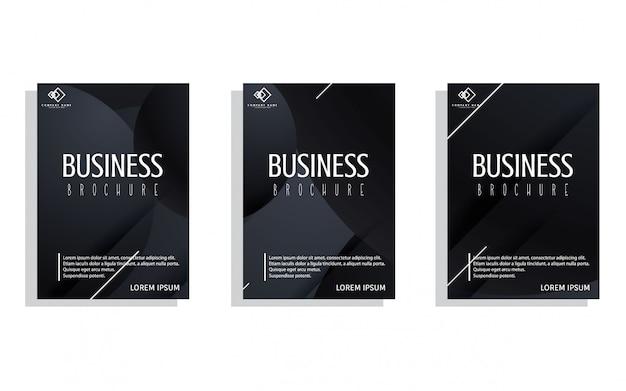 Zestaw ciemnych okładek biznesowych