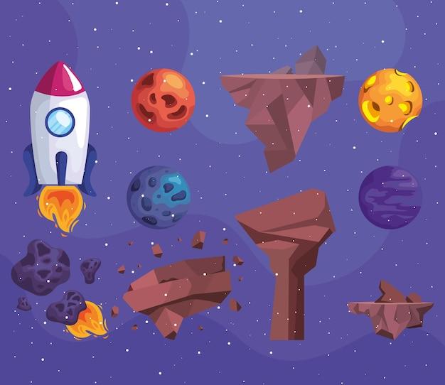 Zestaw clipartów kosmicznych