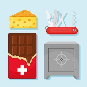 Zestaw clipartów szwajcarskich