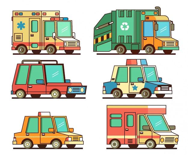 Zestaw clipartów transportu