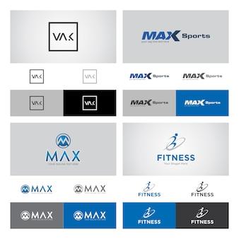 Zestaw corporate logo design