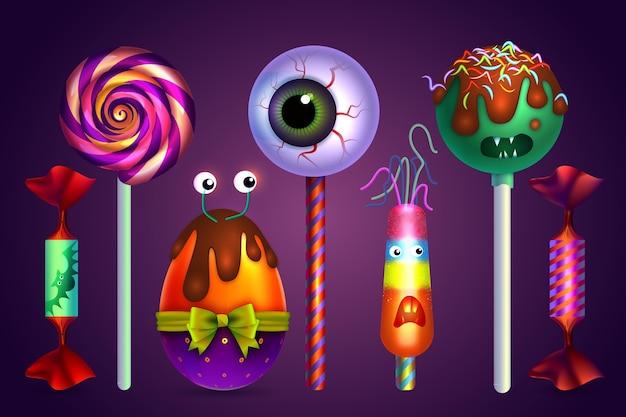 Zestaw cukierków festiwalu halloween
