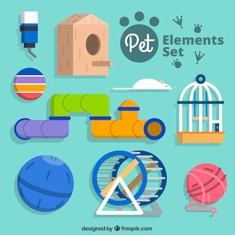Zestaw cute elementów domowych