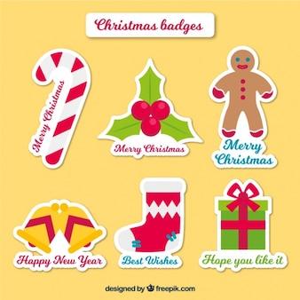 Zestaw cute naklejki dekoracyjne christmas