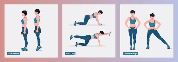 Zestaw ćwiczeń dla kobiet kobiety wykonujące ćwiczenia fitness