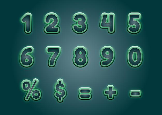 Zestaw cyfr technologii cyfrowej matrycy