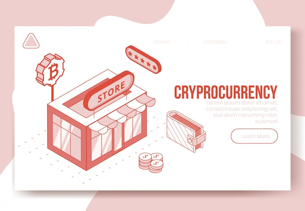 Zestaw cyfrowy izometryczny projekt koncepcji finansowej aplikacji kryptowaluta 3d iconsoncept