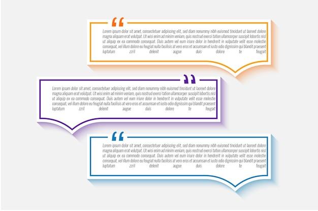 Zestaw cytatów tekst szablonu projektu