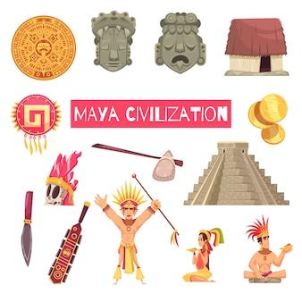 Zestaw cywilizacji majów