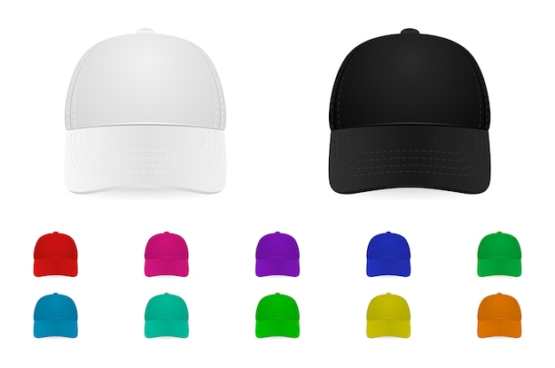 Zestaw czapek baseballowych
