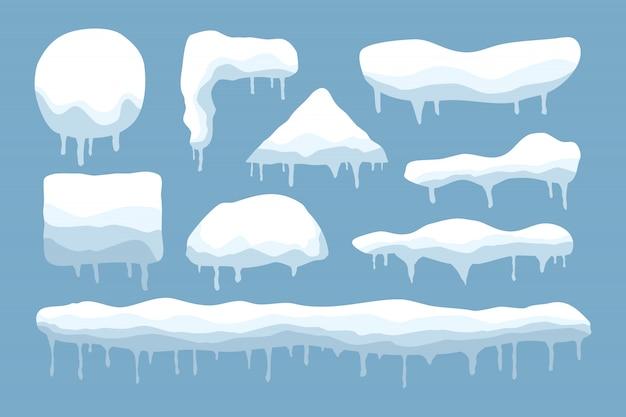 Zestaw czapek śnieżnych