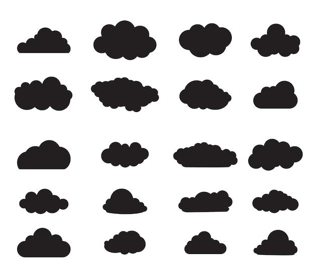 Zestaw czarnej chmury