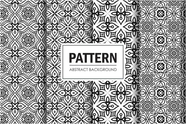 Zestaw czarno-biały abstrakcyjny wzór