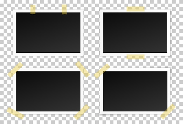 Zestaw czarnych ramek do zdjęć