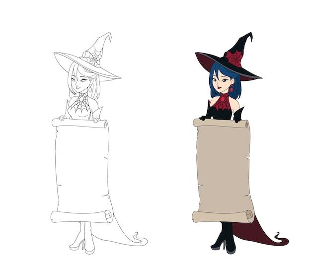 Zestaw czarownic o tematyce halloween