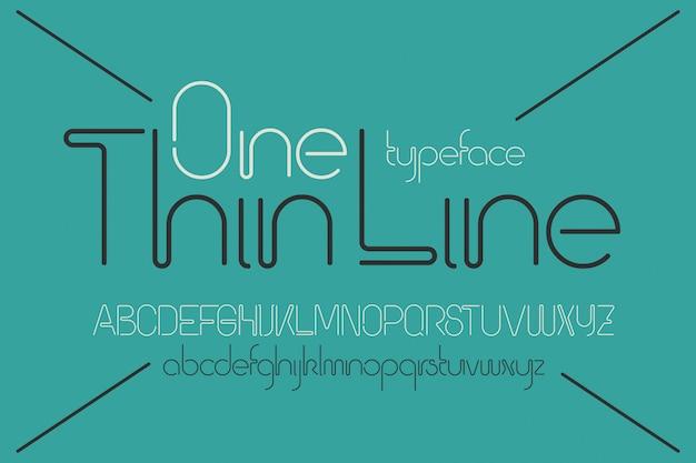 Zestaw czcionek wektorowych jednej linii
