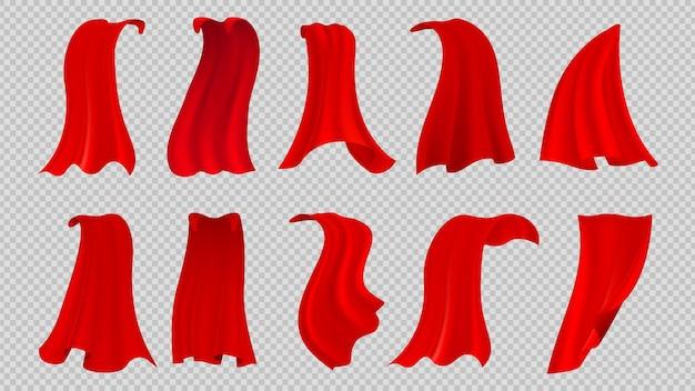 Zestaw czerwonych płaszczy