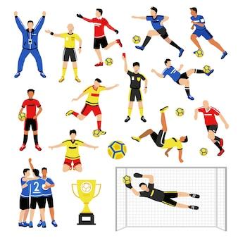 Zestaw członków drużyny piłkarskiej