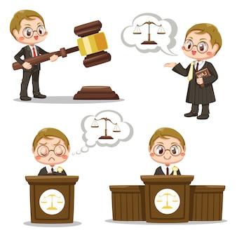 Zestaw człowieka sędzia prawa