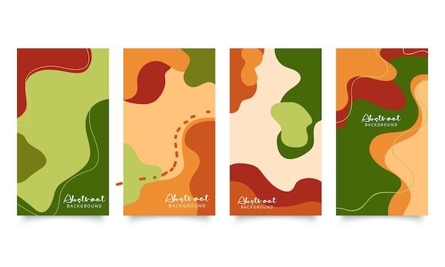 Zestaw czterech abstrakcyjnych nowoczesnych środowisk wektorowych