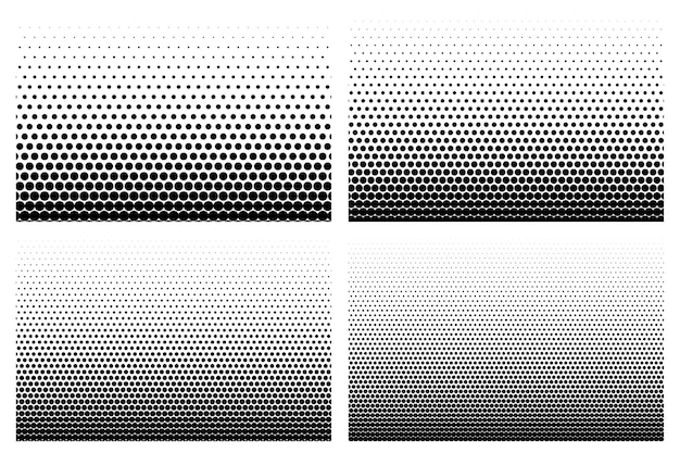 Zestaw czterech gradientu retro półtonów