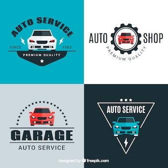 Zestaw czterech logo samochodu