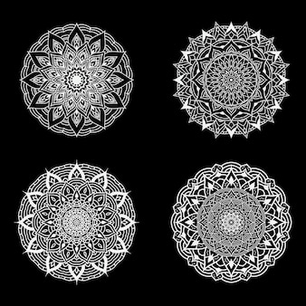 Zestaw czterech luksusowych mandali