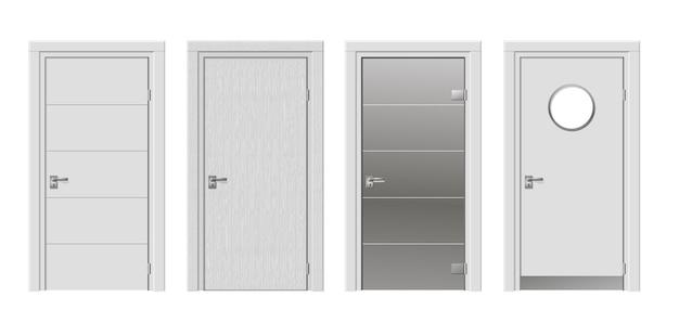 Zestaw czterech nowoczesnych drzwi