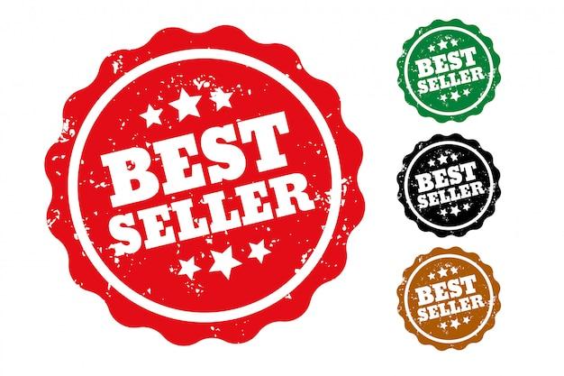 Zestaw czterech pieczątek bestsellerów