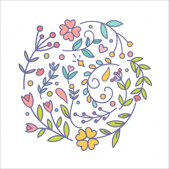 Zestaw dekoracji kwiatowych.